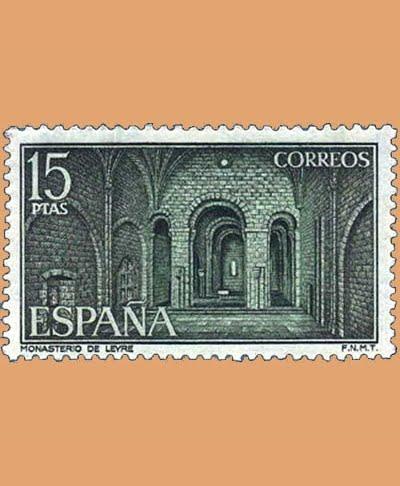 Edifil 2231. Iglesia del Monasterio de Leyre. Sello 15 pts. **1974