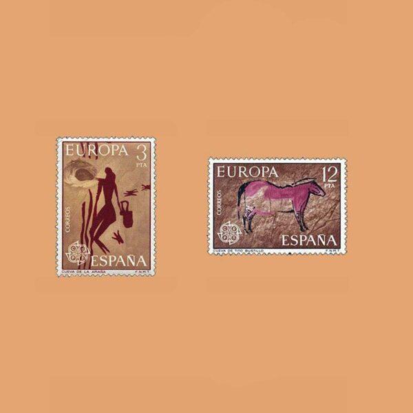 Edifil 2259/60. Serie Europa-CEPT. **1975