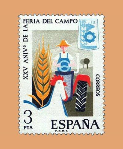 Edifil 2263. Feria del Campo. Sello 3 pts. **1975