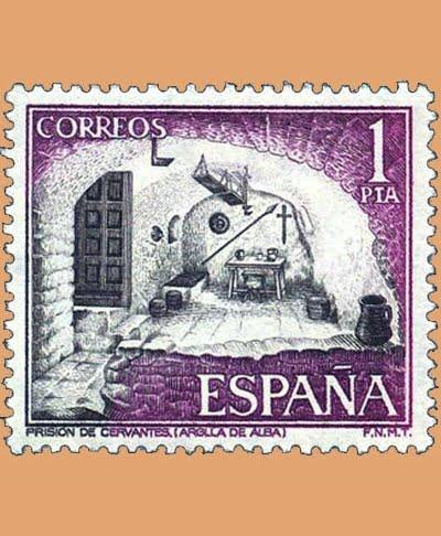 Edifil 2266. Prisión de Cervantes. Sello 1 pts. **1975
