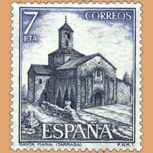 Edifil 2271. Santa María. Terrassa. Sello 7 pts. **1975