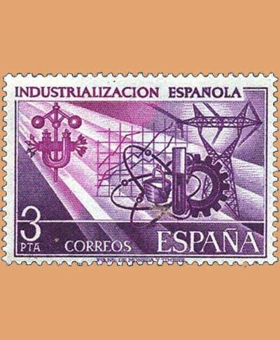 Edifil 2292. Industrialización Española. Sello 3 pts. **1975