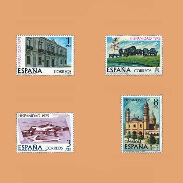 Edifil 2293/6. Serie Hispanidad. Uruguay. **1975