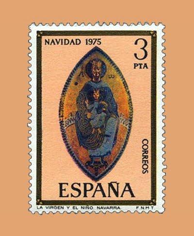 Edifil 2300. La Virgen y el Niño. Sello 3 pts. **1975