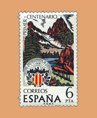 Edifil 2307. Centro Excursionista. Sello 6 pts. **1976