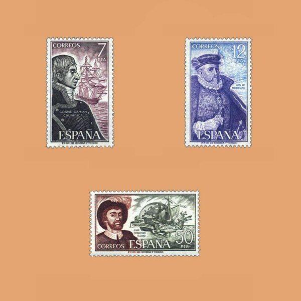 Edifil 2308/10. Serie Personajes Españoles. **1976