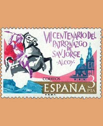 Edifil 2315. San Jorge en Alcoy. Sello 3 pts. **1976