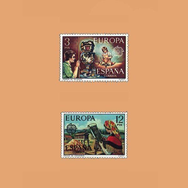 Edifil 2316/7. Serie Europa-CEPT. **1976