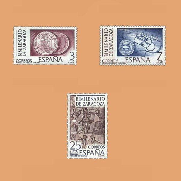 Edifil 2319/21. Serie Bimilenario de Zaragoza. **1976