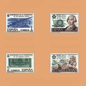 Edifil 2322/5. Serie Independencia de EEUU. **1976