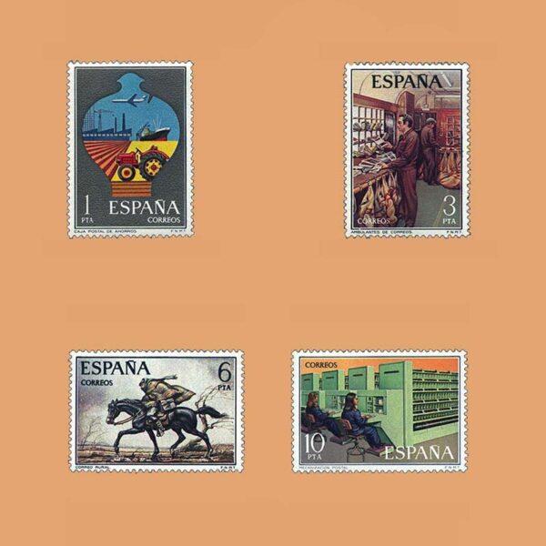 Edifil 2329/32. Serie Servicios de Correos. **1976
