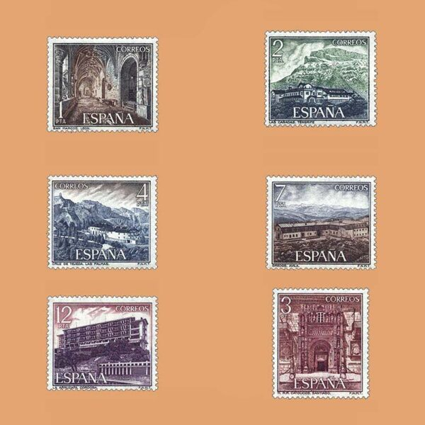Edifil 2334/9. Serie Turística. **1976