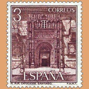 Edifil 2336. Hostal de los Reyes Católicos. Sello 3 pts. **1976