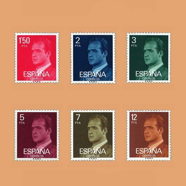Edifil 2344/9. Serie Juan Carlos I. **1976