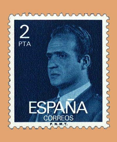 Edifil 2345. Juan Carlos I. Sello 2 pts. **1976