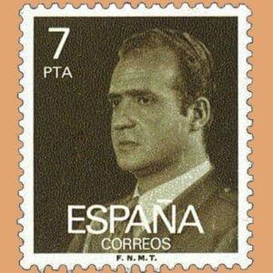 Edifil 2348. Juan Carlos I. Sello 7 pts. **1976