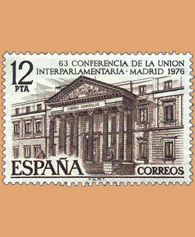 Edifil 2359. Unión Interparlamentaria. Sello 12 pts. **1976