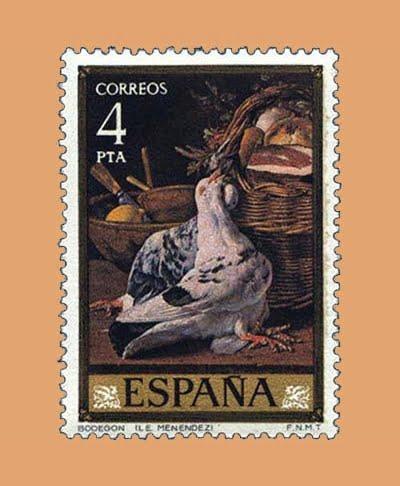 Edifil 2363. Bodegón por Menéndez. Sello 4 pts. **1976