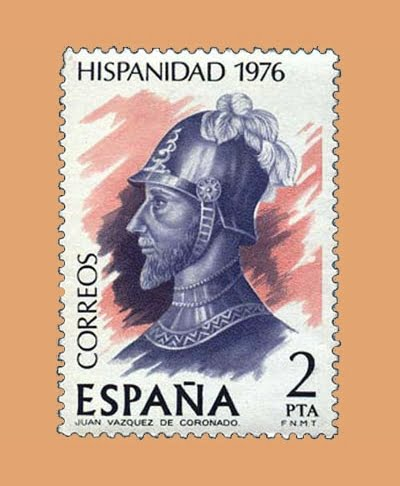 Edifil 2372. J. Vázquez de Coronado. Sello 2 pts. **1976