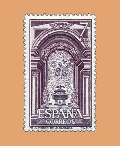 Edifil 2376. Sepulcro San Pedro de Alcántara. Sello 7 pts. **1976