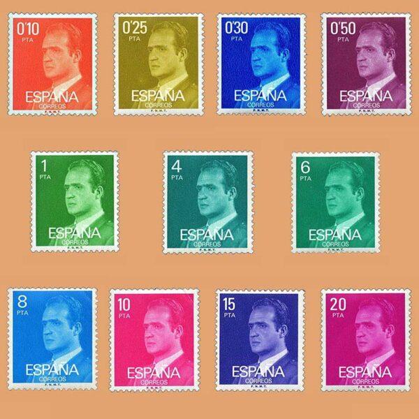Edifil 2386/96. Serie Juan Carlos I. **1977