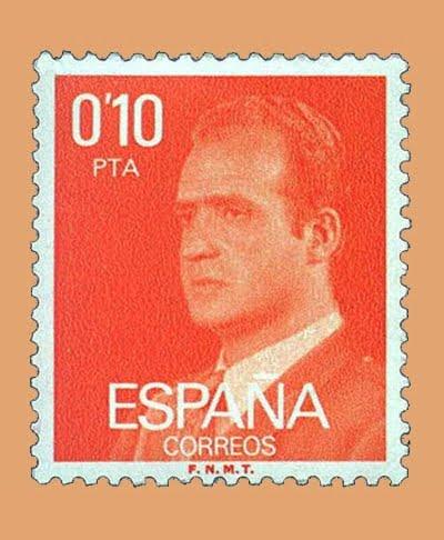 Edifil 2386. Juan Carlos I. Sello 0'10 pts. **1977