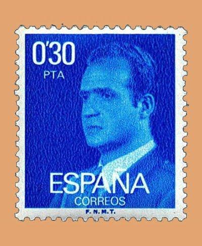 Edifil 2388. Juan Carlos I. Sello 0'30 pts. **1977