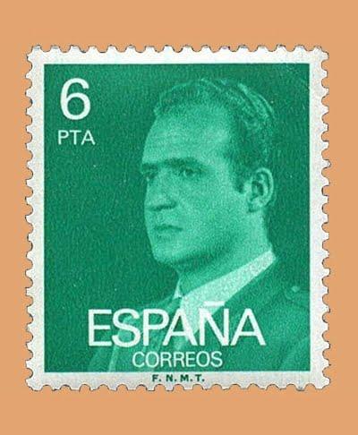 Edifil 2392. Juan Carlos I. Sello 6 pts. **1977