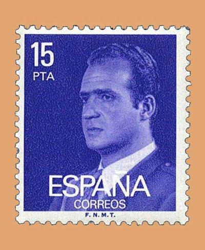 Edifil 2395. Juan Carlos I. Sello 15 pts. **1977