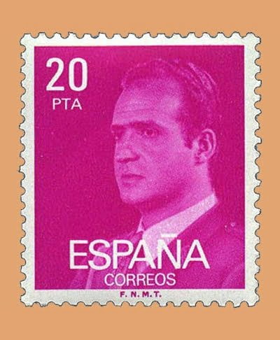 Edifil 2396. Juan Carlos I. Sello 20 pts. **1977