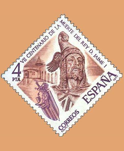 Edifil 2397. Jaime I. Sello 4 pts. **1977