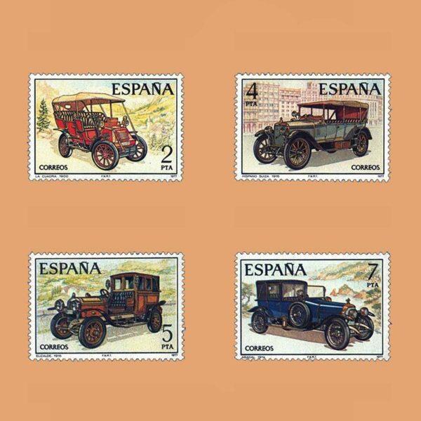 Edifil 2409/12. Serie Automóviles Antiguos. **1977