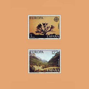 Edifil 2413/4. Serie Europa-CEPT. **1977