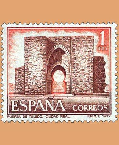 Edifil 2417. Puerta de Toledo. Sello 1 pts. **1977