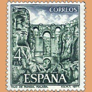 Edifil 2420. Ronda (Málaga). Sello 4 pts. **1977