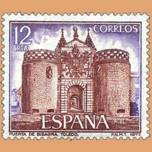 Edifil 2422. Puerta de Bisagra. Sello 12 pts. **1977