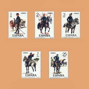 Edifil 2423/7. Serie Uniformes Militares. **1977