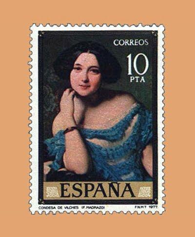 Edifil 2435. La Condesa de Vilches. Sello 10 pts. **1977