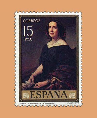 Edifil 2436. Gómez de Avellaneda. Sello 15 pts. **1977