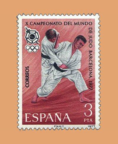 Edifil 2450. X Campeonato del Mundo de Judo. Sello 3 pts. **1977