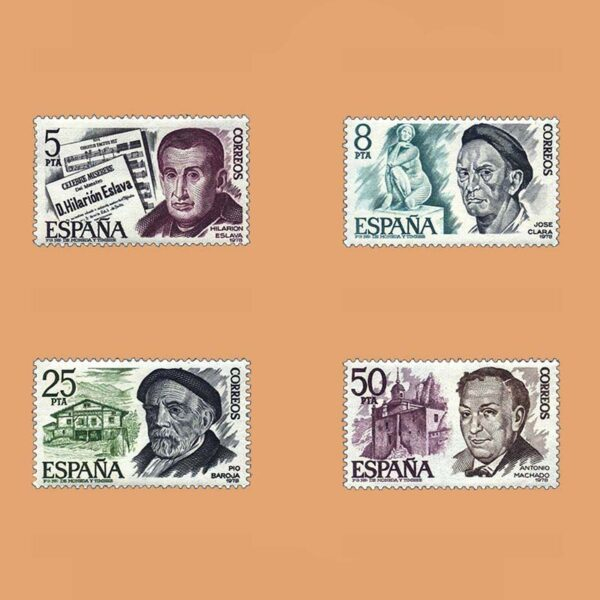 Edifil 2456/9. Serie Personajes Españoles. **1978