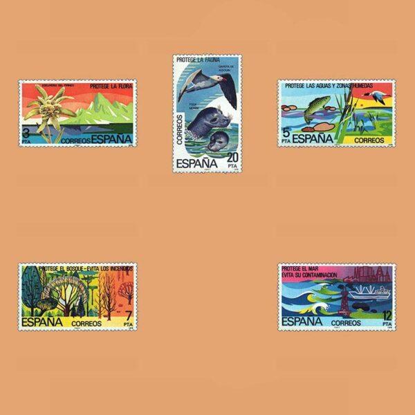 Edifil 2469/73. Serie Protección de la Naturaleza. **1978