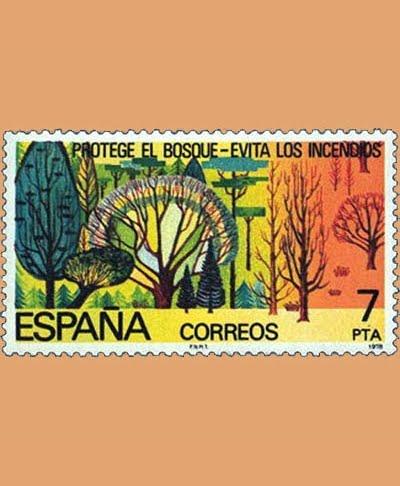 Edifil 2471. Protege el bosque. Sello 7 pts. **1978