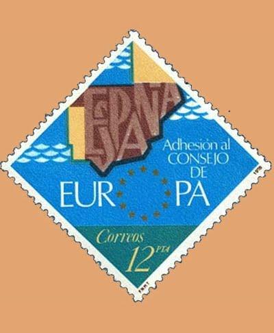 Edifil 2476. Consejo de Europa. Sello 12 pts. **1978