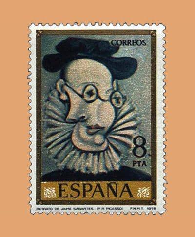 Edifil 2483. Jaime Sabartés por Picasso. Sello 8 pts. **1978