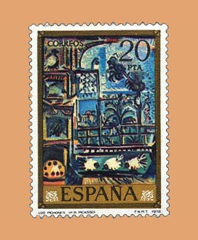 Edifil 2487. Los Pichones por Picasso. Sello 20 pts. **1978