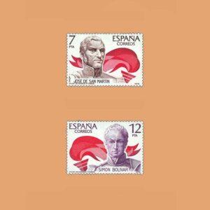 Edifil 2489/90. Serie América España. **1978