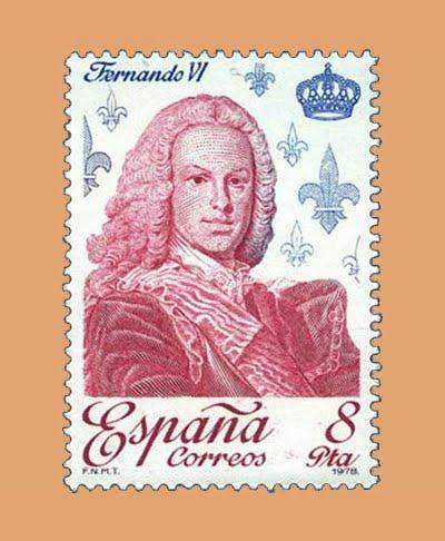Edifil 2498. Fernando VI. Sello 8 pts. **1978
