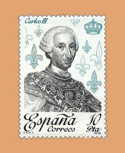 Edifil 2499. Carlos III. Sello 10 pts. **1978