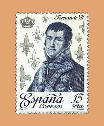Edifil 2501. Fernando VII. Sello 15 pts. **1978